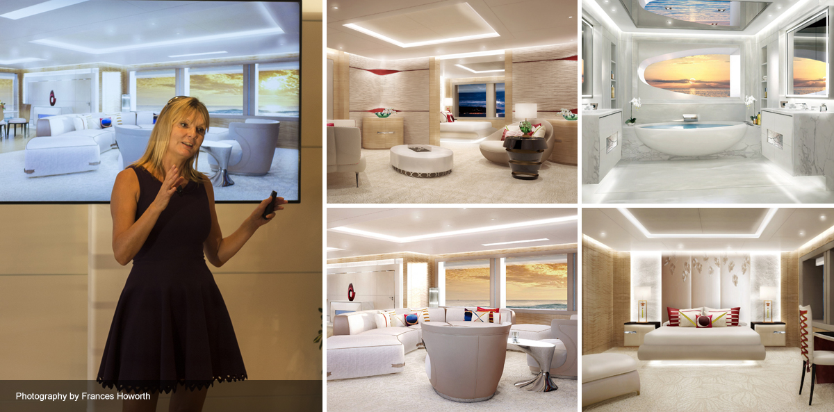 Pascale Reymond presents the interiors of the new AMELS 188 Limited Editions