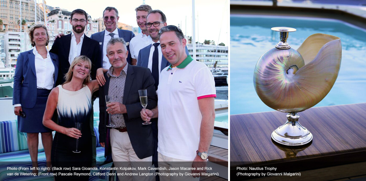 Nautilus Trophy awarded to Ann G during Monaco Yacht Show