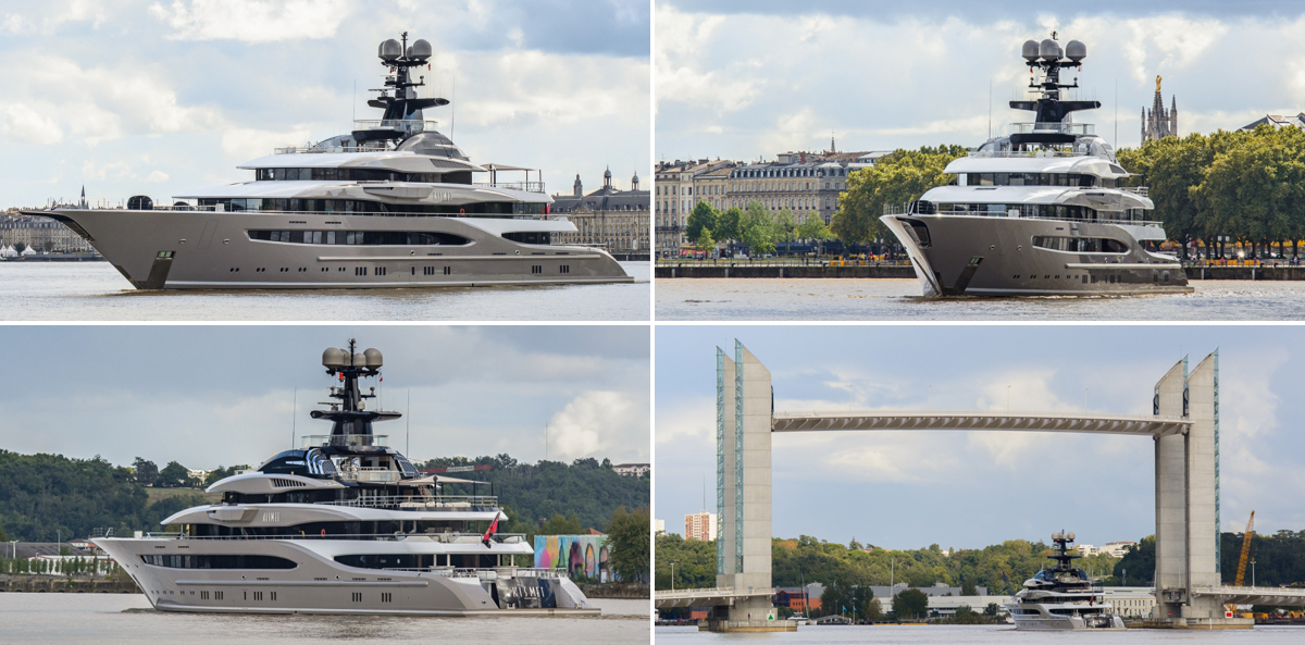 In Pictures: the 95m Kismet in Bordeaux