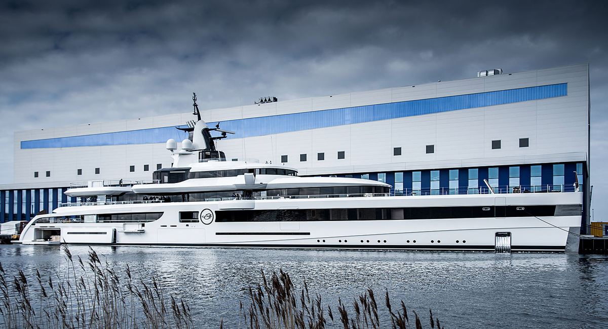 Our latest 93m Feadship superyacht Lady S nearing delivery